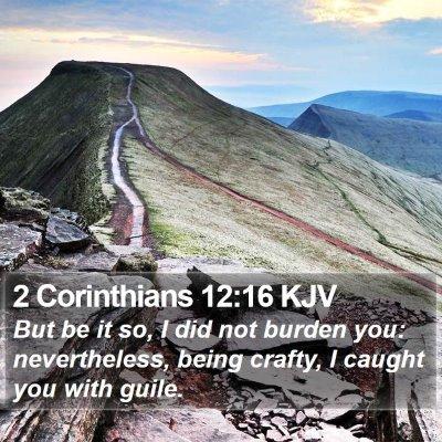 2 Corinthians 12:16 KJV Bible Verse Image