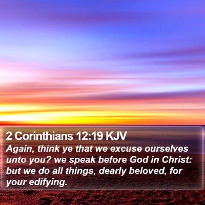 2 Corinthians 12:19 KJV Bible Verse Image