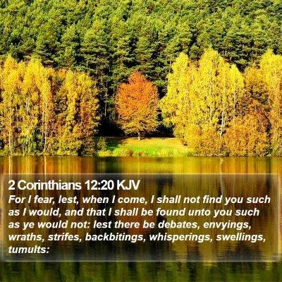 2 Corinthians 12:20 KJV Bible Verse Image