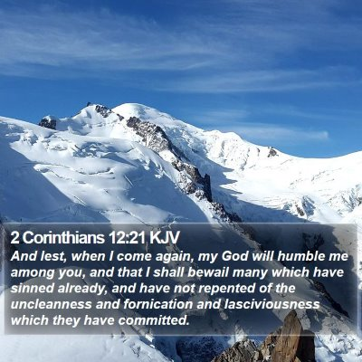 2 Corinthians 12:21 KJV Bible Verse Image