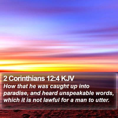 2 Corinthians 12:4 KJV Bible Verse Image