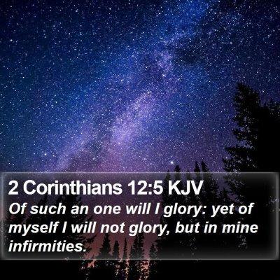 2 Corinthians 12:5 KJV Bible Verse Image