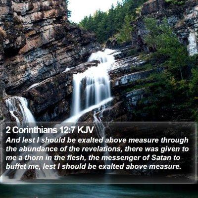 2 Corinthians 12:7 KJV Bible Verse Image