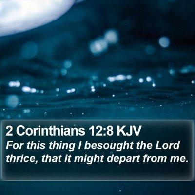 2 Corinthians 12:8 KJV Bible Verse Image