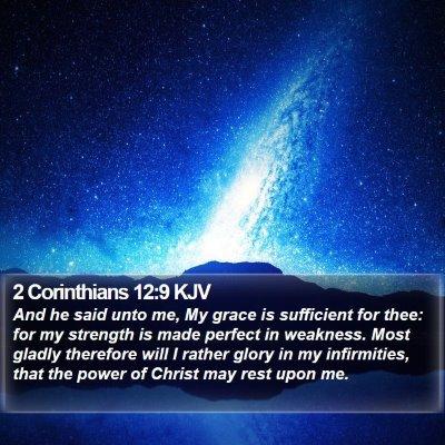 2 Corinthians 12:9 KJV Bible Verse Image