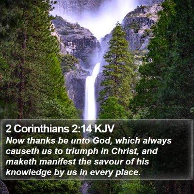 2 Corinthians 2:14 KJV Bible Verse Image
