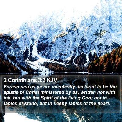 2 Corinthians 3:3 KJV Bible Verse Image