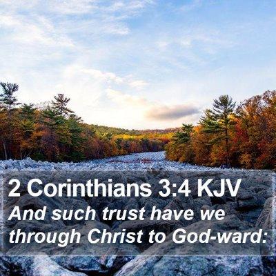 2 Corinthians 3:4 KJV Bible Verse Image