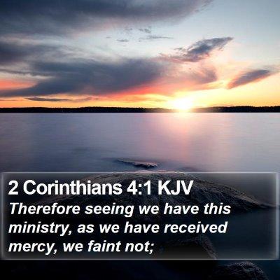 2 Corinthians 4:1 KJV Bible Verse Image