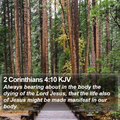 2 Corinthians 4:10 KJV Bible Verse Image