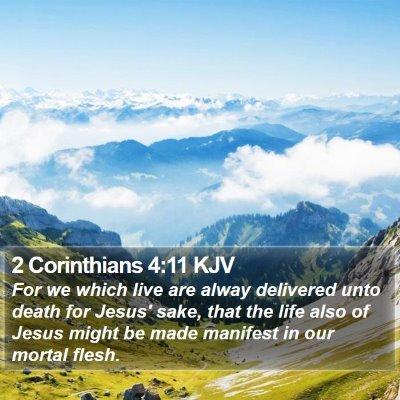 2 Corinthians 4:11 KJV Bible Verse Image