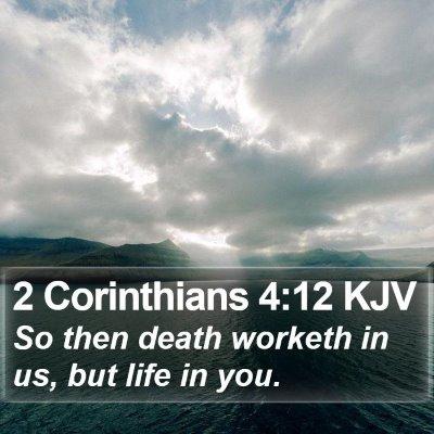 2 Corinthians 4:12 KJV Bible Verse Image