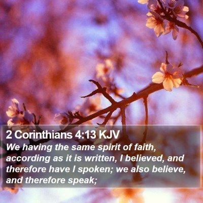 2 Corinthians 4:13 KJV Bible Verse Image