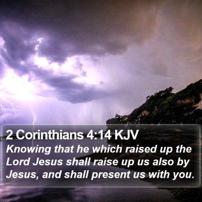 2 Corinthians 4:14 KJV Bible Verse Image