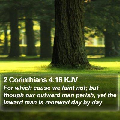 2 Corinthians 4:16 KJV Bible Verse Image
