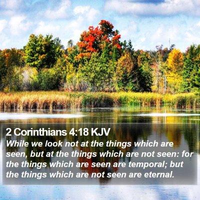 2 Corinthians 4:18 KJV Bible Verse Image