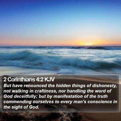 2 Corinthians 4:2 KJV Bible Verse Image