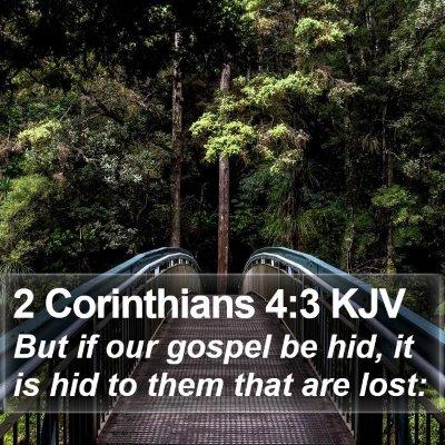 2 Corinthians 4:3 KJV Bible Verse Image