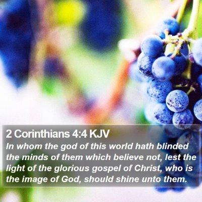 2 Corinthians 4:4 KJV Bible Verse Image