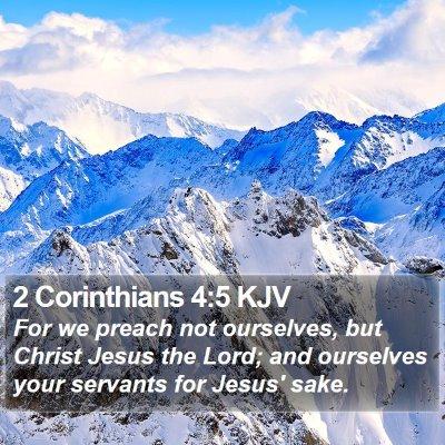 2 Corinthians 4:5 KJV Bible Verse Image