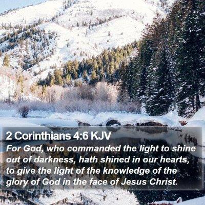 2 Corinthians 4:6 KJV Bible Verse Image