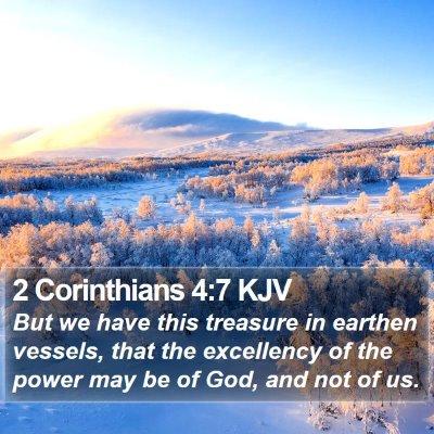 2 Corinthians 4:7 KJV Bible Verse Image