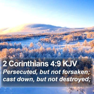 2 Corinthians 4:9 KJV Bible Verse Image