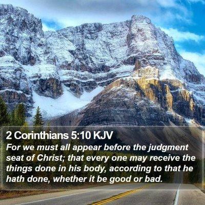 2 Corinthians 5:10 KJV Bible Verse Image