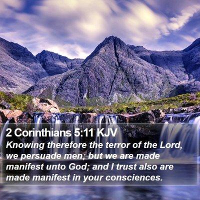 2 Corinthians 5:11 KJV Bible Verse Image