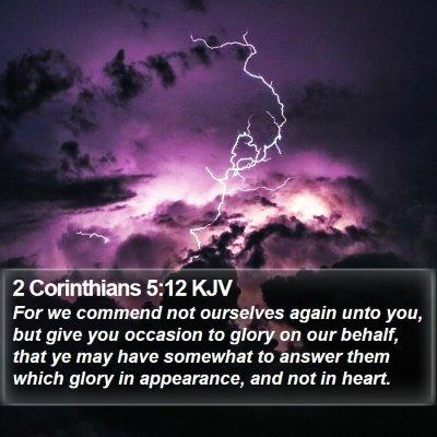 2 Corinthians 5:12 KJV Bible Verse Image