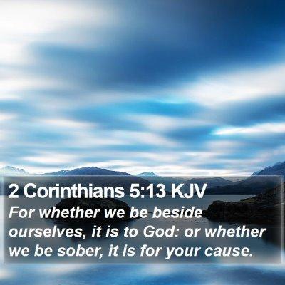 2 Corinthians 5:13 KJV Bible Verse Image