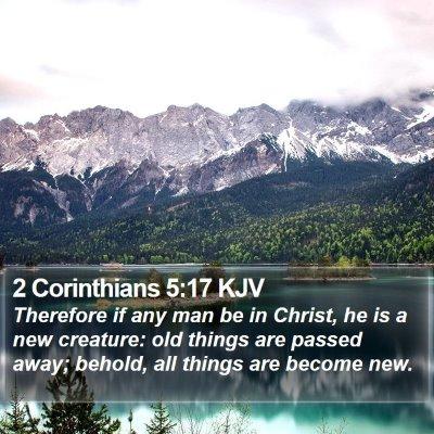 2 Corinthians 5:17 KJV Bible Verse Image