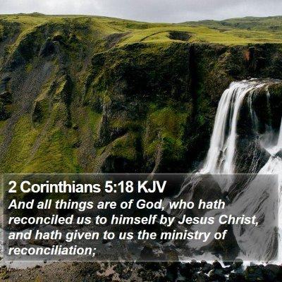 2 Corinthians 5:18 KJV Bible Verse Image