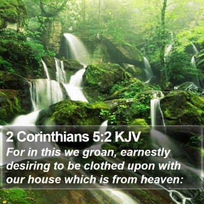 2 Corinthians 5:2 KJV Bible Verse Image