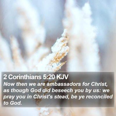2 Corinthians 5:20 KJV Bible Verse Image