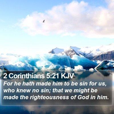2 Corinthians 5:21 KJV Bible Verse Image