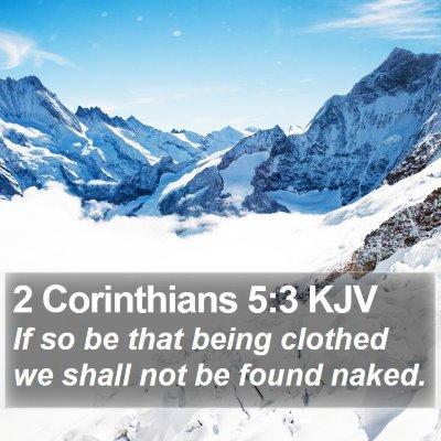 2 Corinthians 5:3 KJV Bible Verse Image