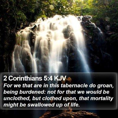 2 Corinthians 5:4 KJV Bible Verse Image