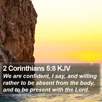 2 Corinthians 5:8 KJV Bible Verse Image