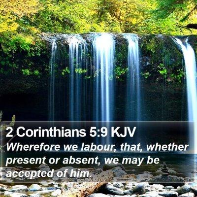 2 Corinthians 5:9 KJV Bible Verse Image