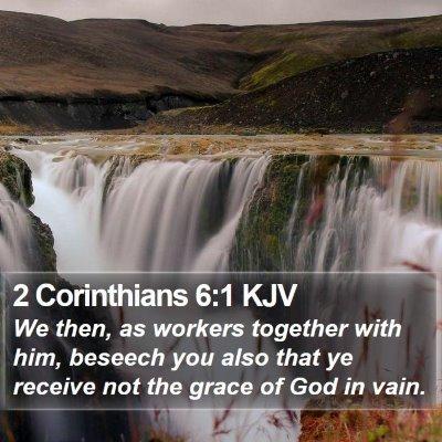 2 Corinthians 6:1 KJV Bible Verse Image