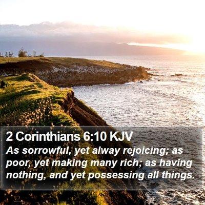 2 Corinthians 6:10 KJV Bible Verse Image