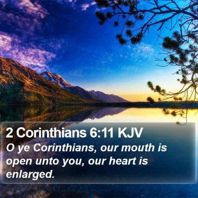 2 Corinthians 6:11 KJV Bible Verse Image