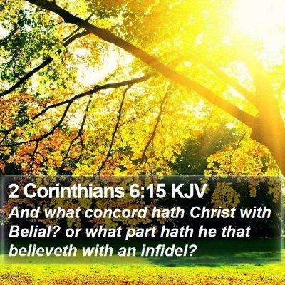 2 Corinthians 6:15 KJV Bible Verse Image