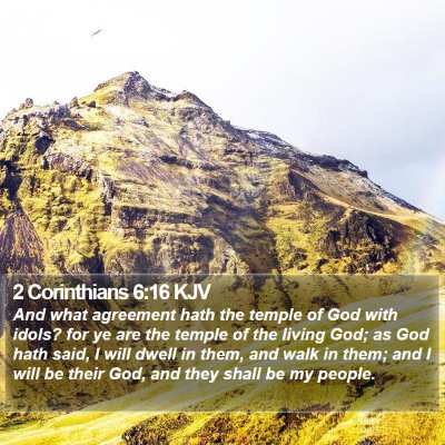 2 Corinthians 6:16 KJV Bible Verse Image