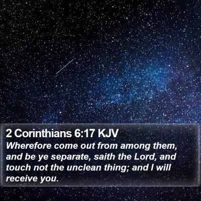 2 Corinthians 6:17 KJV Bible Verse Image