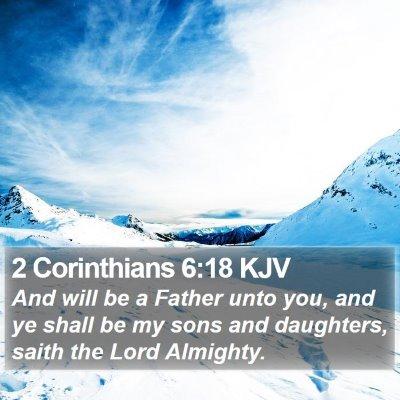 2 Corinthians 6:18 KJV Bible Verse Image