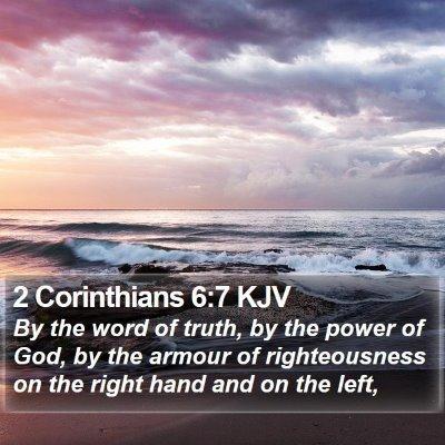 2 Corinthians 6:7 KJV Bible Verse Image