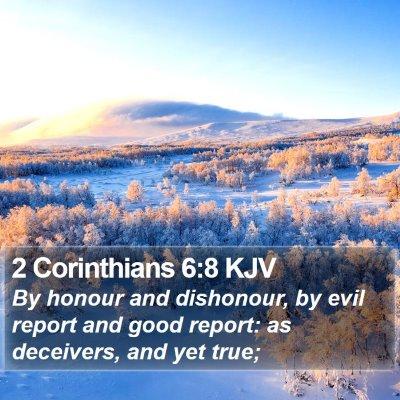 2 Corinthians 6:8 KJV Bible Verse Image