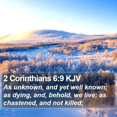 2 Corinthians 6:9 KJV Bible Verse Image
